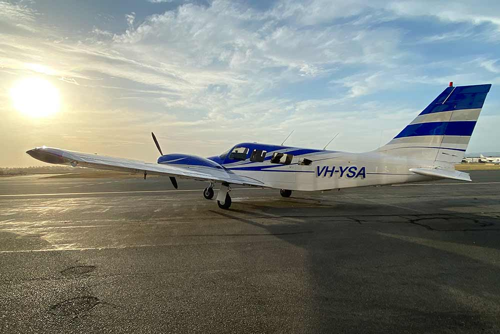 Our Aircraft Piper Seneca at Archerfield