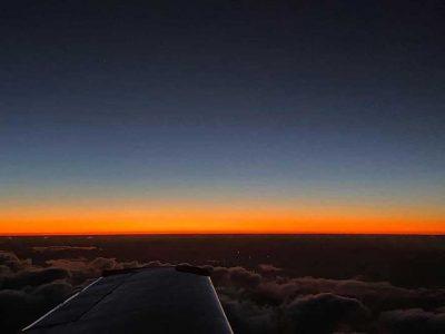 Sunset over Queensland  Air cargo   air freight