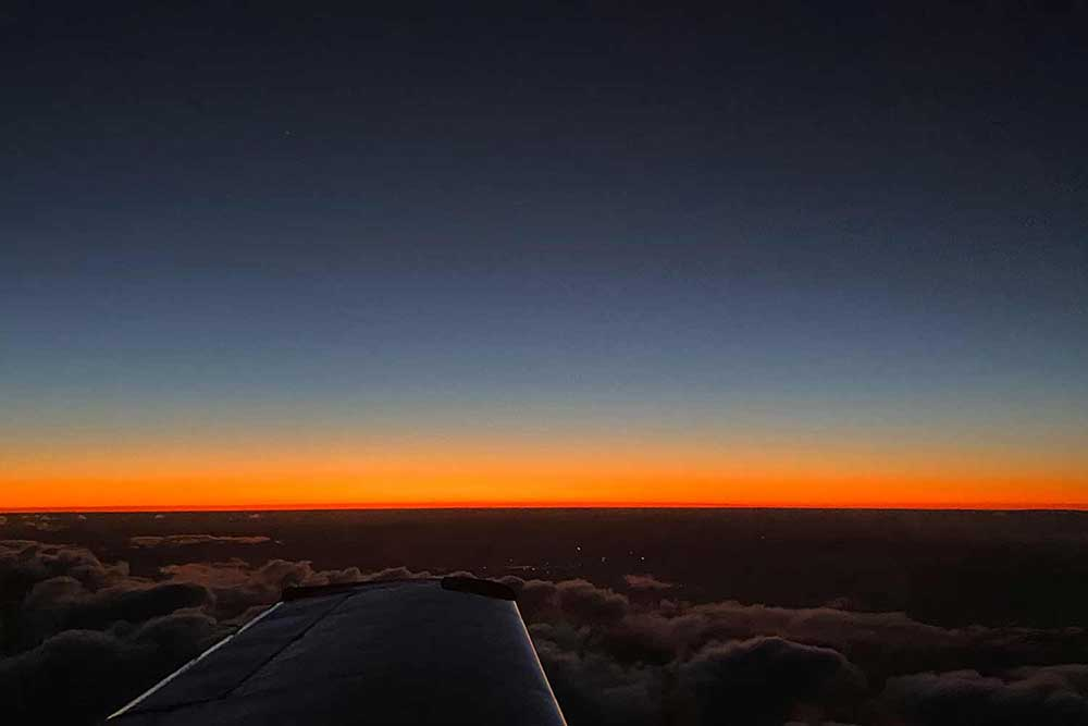 Sunset over Queensland |Air cargo | air freight